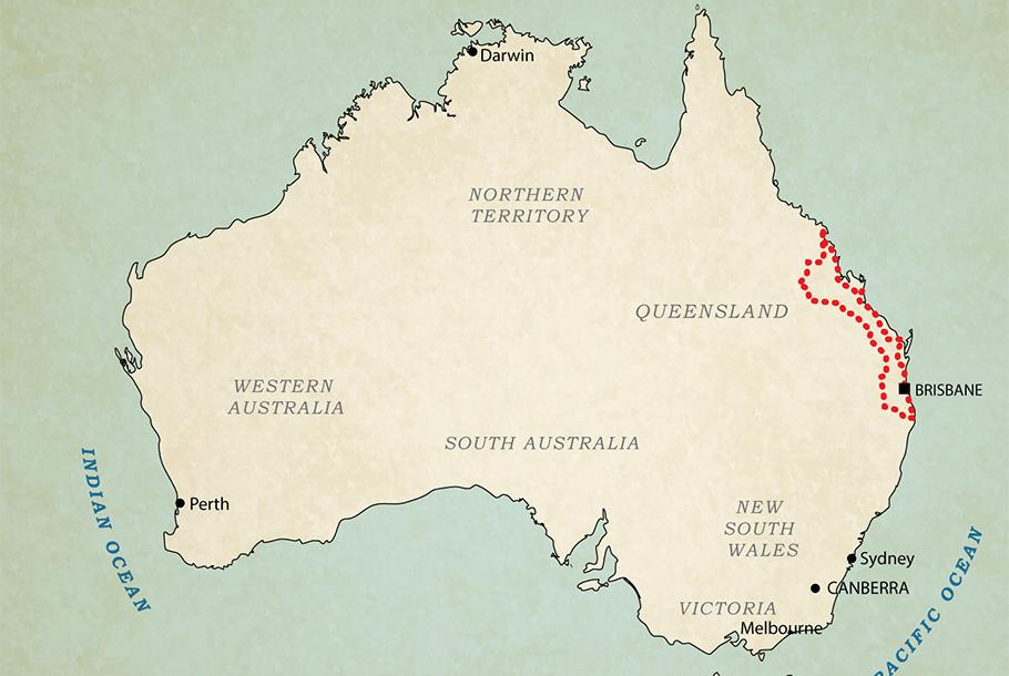 Map: All motorcycle tours in Australia