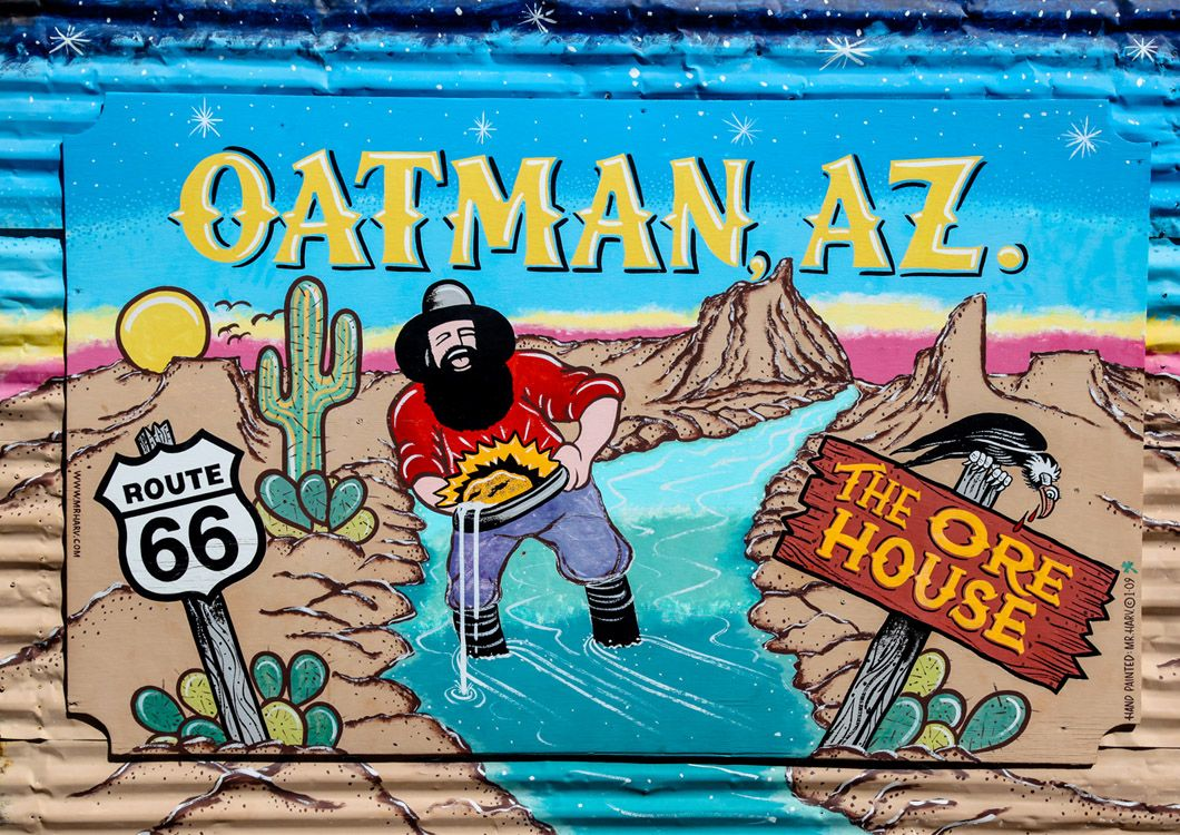 oatman az sign route 66