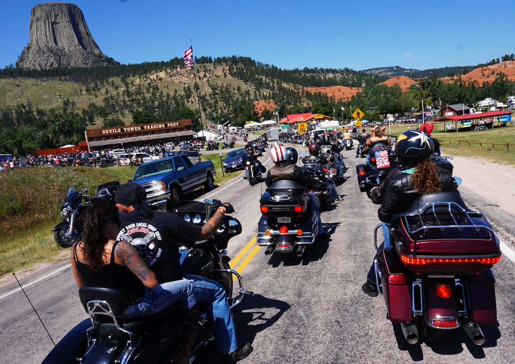 Riders during the sturgis harley rally